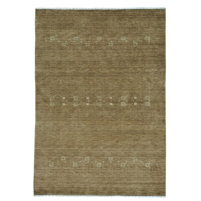 One-of-a-Kind Rothermel Folk Modern Oriental Hand-Knotted Area Rug