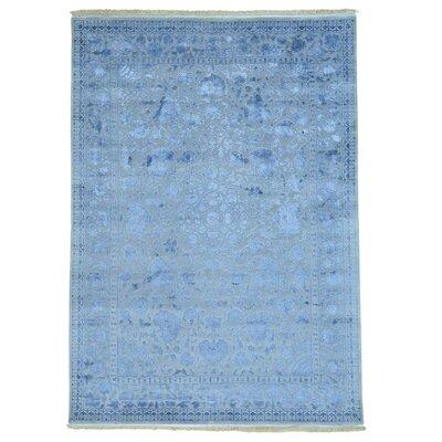 One-of-a-Kind Sinead 300 KPSI Half Half Oriental Hand-Knotted Silk Area Rug