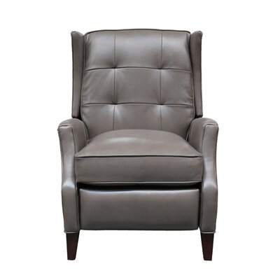 Lincoln Leather Manual Recliner Upholstery: Wenlock Dark Taupe