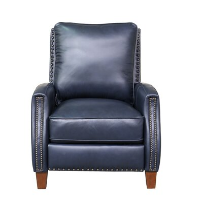 Melrose Leather Manual Recliner Upholstery: Shoreham Blue