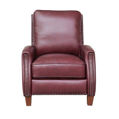 Melrose Leather Manual Recliner Upholstery: Shoreham Wine