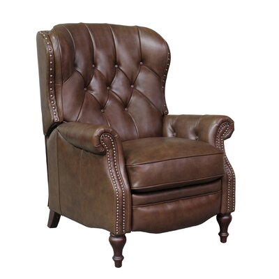 Lavoie Leather Manual Recliner Upholstery: Wenlock Double Chocolate