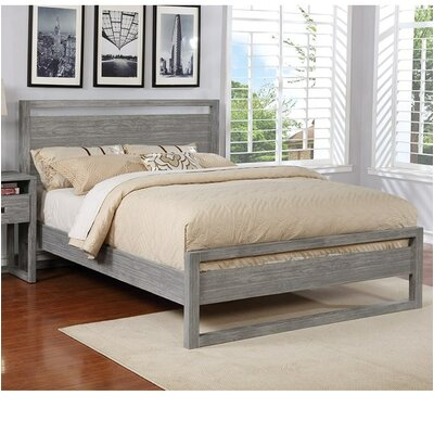 Ulrich Platform Bed Size: King, Color: Gray