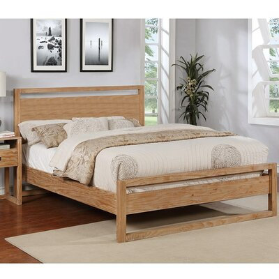Ulrich Platform Bed Size: Queen, Color: Almond