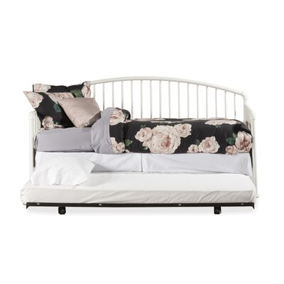 McTee Daybed with Suspension Deck and Trundle Unit Color: White
