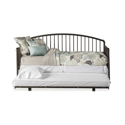 McTee Daybed with Suspension Deck and Trundle Unit Color: Oiled Bronze