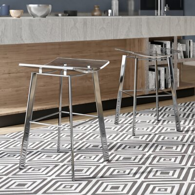 Dru 24 Bar Stool Finish: Chrome