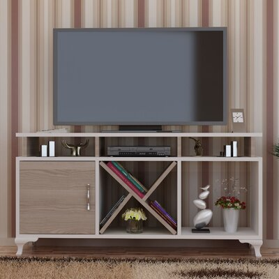 Morrisey 47 TV Stand Color: White/Cordoba