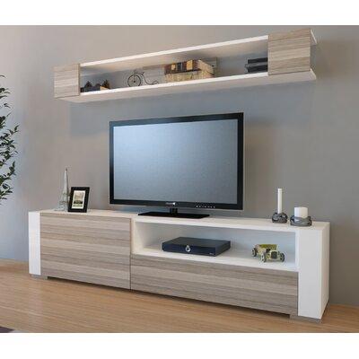 Xzavier 71 TV Stand Color: White/Cordoba