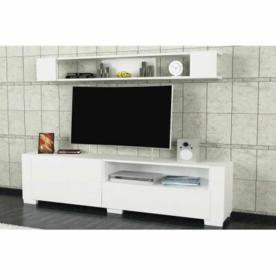 Xzavier 71 TV Stand Color: White