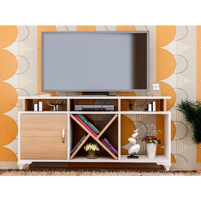 Morrisey 47 TV Stand Color: White/Teak