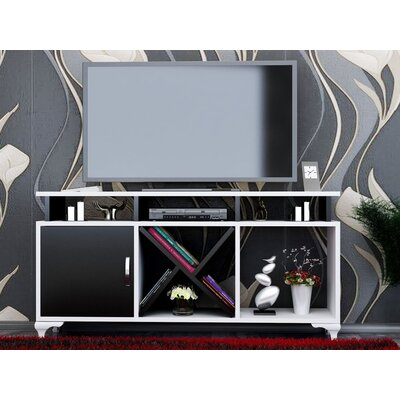 Morrisey 47 TV Stand Color: White/Black