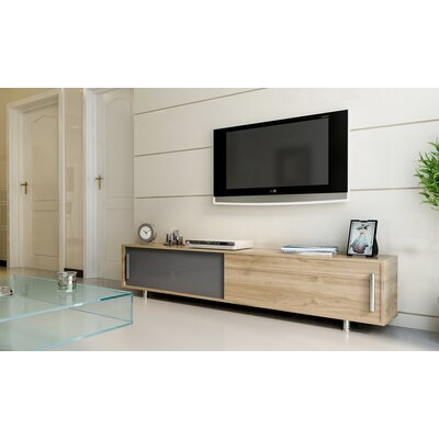 Sandefur 71 TV Stand Color: Black/Teak