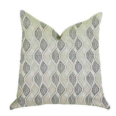 Mccrory Luxury Pillow Size: 16 x 16, Color: Blue/Beige, Product Type: Throw Pillow