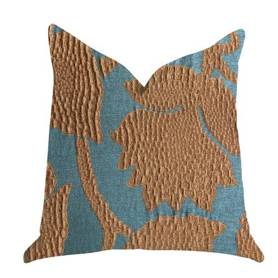 Freels Vine Pillow Size: 22 x 22, Color: Green/Bronze, Product Type: Throw Pillow