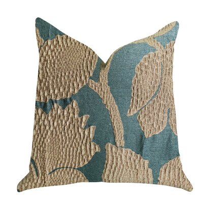 Freels Vine Pillow Size: 16 x 16, Color: Green/Gold, Product Type: Throw Pillow