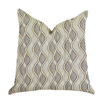 Mccrory Luxury Pillow Size: 18 x 18, Color: Cream/Gold, Product Type: Throw Pillow