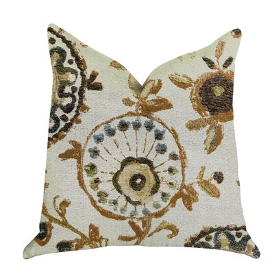 Reimers Floral Luxury Pillow Size: 16 x 16, Product Type: Throw Pillow