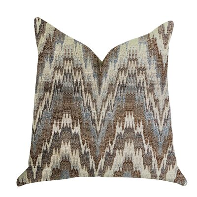 Demartino Oblique Ridge Wave Luxury Pillow Size: 24 x 24, Product Type: Throw Pillow