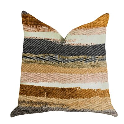 Sylvie Striped Luxury Pillow Size: 18 x 18, Product Type: Throw Pillow
