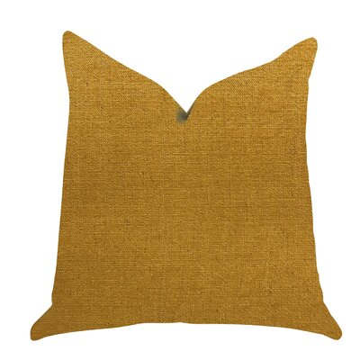 Deskins Turmeric Luxury Pillow Size: 18 x 18, Product Type: Throw Pillow