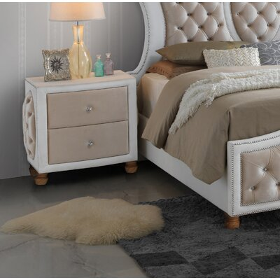 Lees 2 Drawer Nightstand