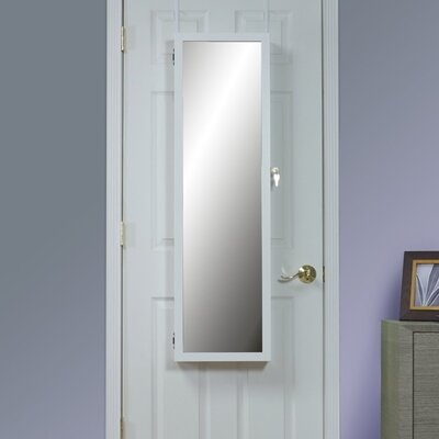 Hallsten Over the Door Jewelry Armoire with Mirror Color: White