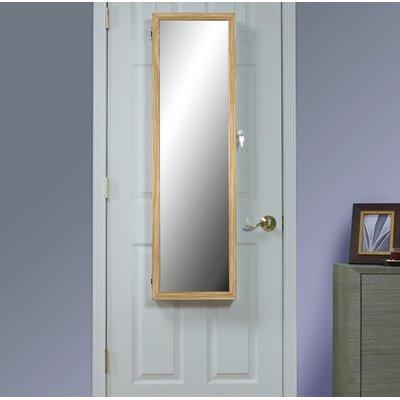 Hallsten Over the Door Jewelry Armoire with Mirror Color: Oak