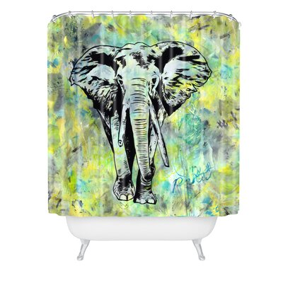 Amy Smith Elephant Shower Curtain