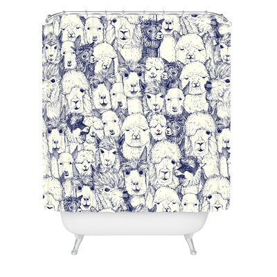 Sharon Turner Alpacas Shower Curtain