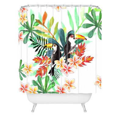 Sophia Buddenhagen 2 Toucans Shower Curtain