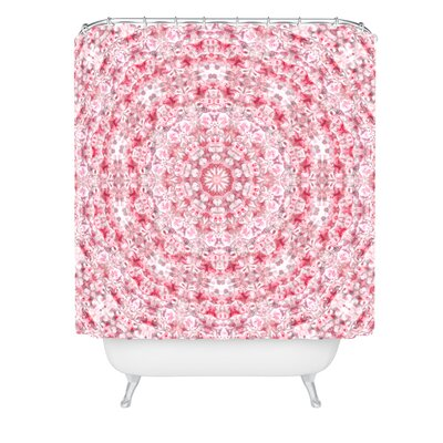 Lisa Argyropoulos Boho Blush Kaleido Shower Curtain