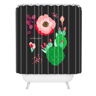 Holli Zollinger Dseset Botanical Prickly Pear Shower Curtain