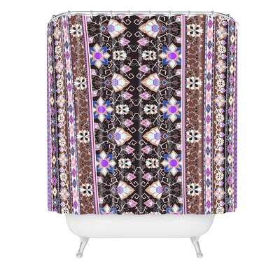 Aimee St Hill Semera Shower Curtain Color: Purple/Dark Gray