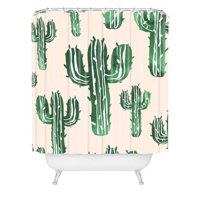 Susanne Kasielke Cactus Party Desert Matcha Shower Curtain