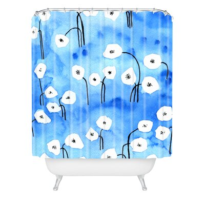 Elena Blanco Little Flowers Shower Curtain
