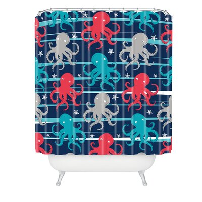Zoe Wodarz Octopus Under The Sea Shower Curtain