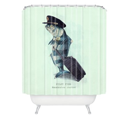 Eric Fan The Pilot Shower Curtain