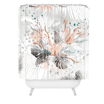 Iveta Abolina Tropical Silver Shower Curtain