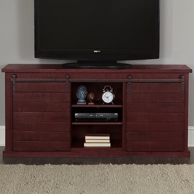 Laursen 64 TV Stand Color: Red