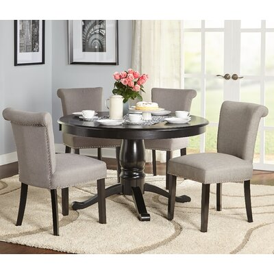 Hubler 5 Piece Dining Set Chair Color: Gray