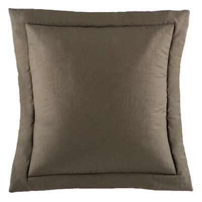 Postel Solid Euro Sham Color: Gray