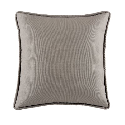 Postel Cotton Throw Pillow Color: Gray