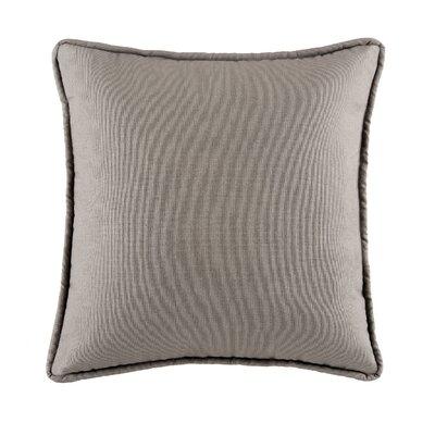 Postel Cotton Throw Pillow Color: Gray