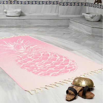 Selborne Pineapple 100% Cotton Lightweight Peshtemal Fouta Beach Towel Color: Hot Pink