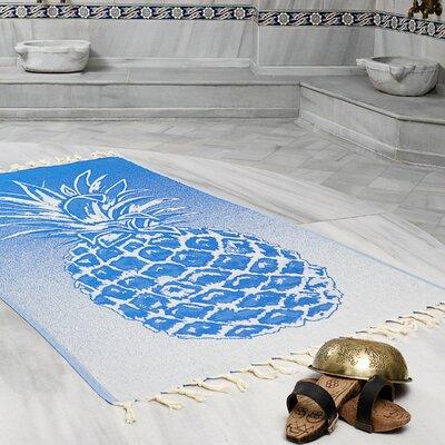 Selborne Pineapple 100% Cotton Lightweight Peshtemal Fouta Beach Towel Color: Royal Blue