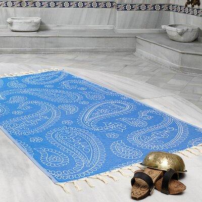 Kiernan Space Saving Fast Drying All Natural Ultra Lightweight Peshtemal Fouta Travel Beach Towel Color: Royal Blue