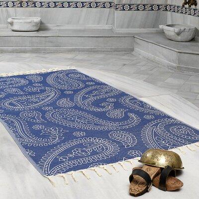 Kiernan Space Saving Fast Drying All Natural Ultra Lightweight Peshtemal Fouta Travel Beach Towel Color: Navy Blue