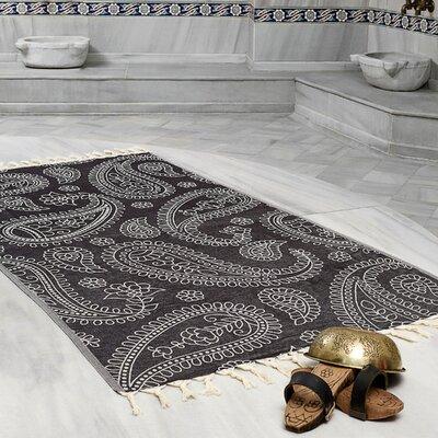 Kiernan Space Saving Fast Drying All Natural Ultra Lightweight Peshtemal Fouta Travel Beach Towel Color: Black