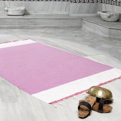 Amett Lightweight Turkish Peshtemal Beach Towel Color: Purple/Fuchsia